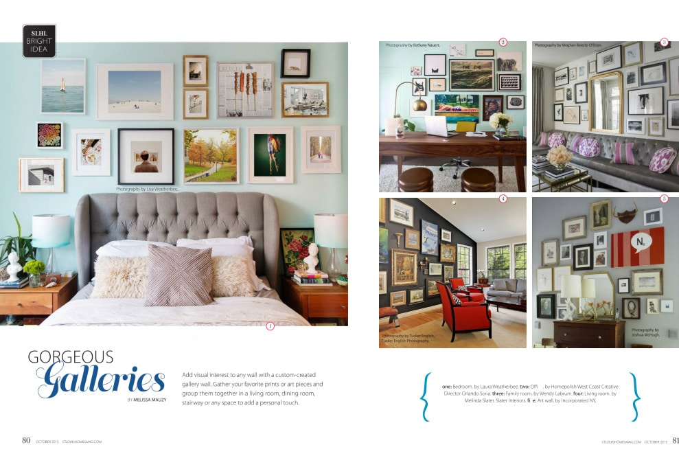 Custom-Created Gallery Wall Featured in St. Louis Homes and Lifestyle Magazine